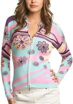 Le Mieux Pink & Aqua Flower Zip-Up Jacket