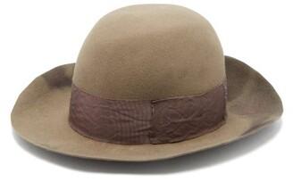 Albertus Swanepoel Sebastian Dip-dyed Felt Fedora - Mens - Brown
