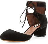 Tabitha Simmons Imogen Velvet Ankle-Cuff Pump, Black