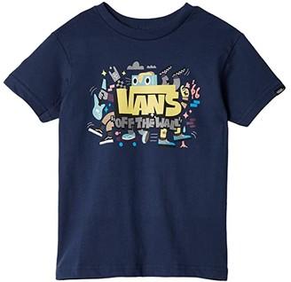 Vans Kids Kick Out Tee (Toddler) (Dress Blues) Boy's Clothing