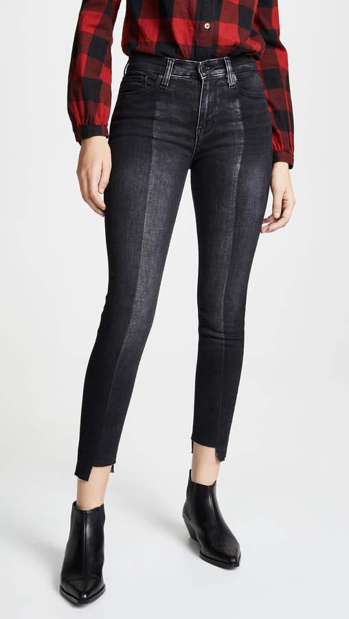 Hudson Nico Two Tone Skinny Ankle Jeans