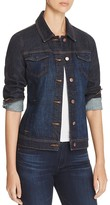 Eileen Fisher Petites Classic Collar Denim Jacket