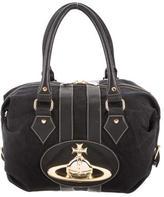 Vivienne Westwood Leather-Trimmed Bowler Bag