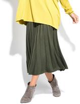 Everest Khaki Pleat Maxi Skirt