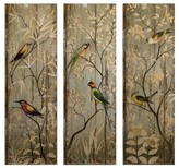 "Aurora Decorative Wall Art Set - Brown (5.5 X 44.25 X 16.5"")"