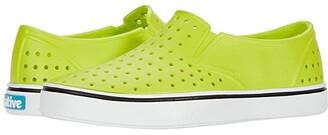 Native Miles Slip-On (Little Kid/Big Kid) (Utility Green/Shell White) Boys Shoes