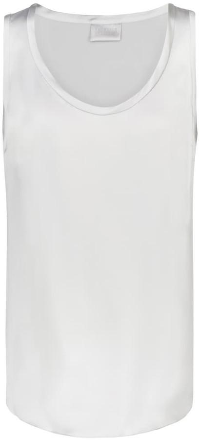Brunello Cucinelli Stretch-silk tank top