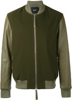 Blood Brother Alpha bomber jacket - men - Lamb Skin/Wool - XS