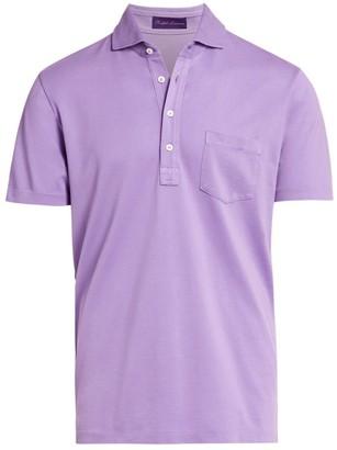 Ralph Lauren Purple Label Washed Non-Logo Short-Sleeve Polo