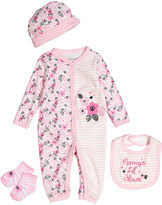 Buster Brown Pink 'Mommy's Little Flower' Four-Piece Layette Set
