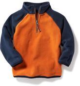 Old Navy Micro Fleece Color-Block 1/4-Zip for Toddler
