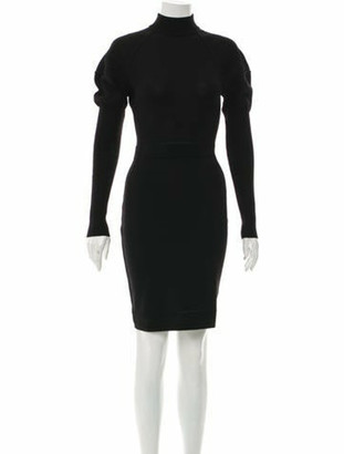 Alaia Wool Mini Dress Black