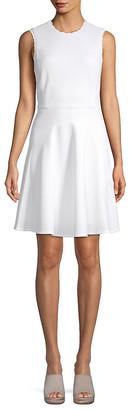 Rebecca Taylor Scalloped Sleeveless Dress