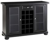 Crosley Alexandria Sliding Top Bar Cabinet - Black
