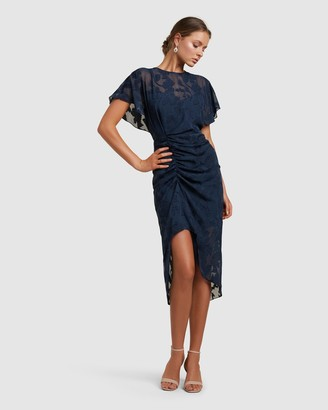 Forever New Tamara Ruched Midi Dress