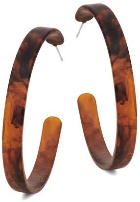 Ava & Aiden Matte Perspex Hoop Earrings