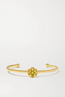 Bayco 18-karat Gold Sapphire Cuff