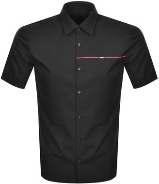 HUGO BOSS Ermino Short Sleeved Shirt Black