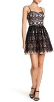 City Triangles Embellished Lace Party Dress (Juniors)