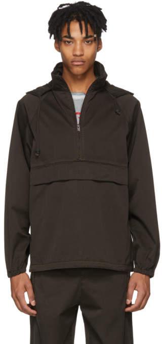 Yeezy Brown Half-Zip Anorak Jacket
