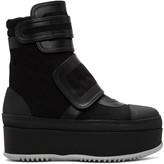 Marni Black Velcro Platform Boots