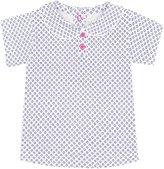 Jo-Jo JoJo Maman Bebe Peter Pan Collar T Shirt (Baby) - Navy Ditsy Print-6-12 Months