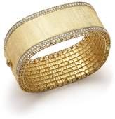 Roberto Coin 18K Yellow Gold and Diamond Large Satin Princess Bangle