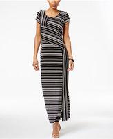 NY Collection Petite Striped Maxi Dress