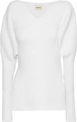 KHAITE Selena Ribbed Merino Wool Sweater