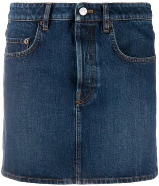Balenciaga Straight Denim Skirt