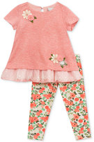 Rare Editions 2-Pc. Layered-Look Tunic and Leggings Set, Baby Girls (0-24 months)