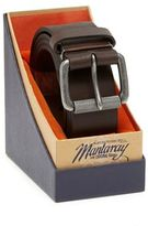 Mantaray Brown Leather Belt In A Gift Box