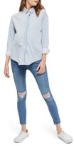 Topshop Women's Elton Bleach Denim Maternity Shirt