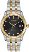 Citizen Eco-Drive Men's Two Tone Watch With Diamond Accents Bm7344-54E