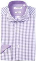 Isaac Mizrahi Fancy Check Slim Fit Dress Shirt