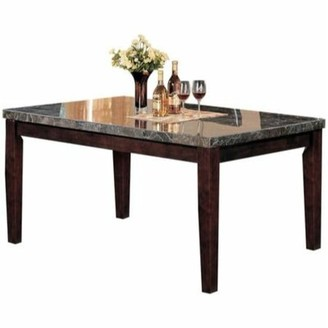 Ebern Designs Solid Wood Dining Table