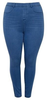 Dorothy Perkins Womens Dp Curve Mid Wash Blue Premium 'Eden' Super Soft Jeggings, Blue