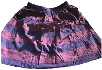 Burberry Burgundy Cotton Skirt for Women