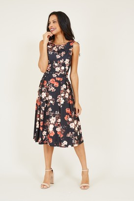 Yumi Floral Printed Prom Dress
