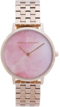 Rebecca Minkoff Women's Major Carnation Gold-Tone Stainless Steel Bracelet Watch 35mm