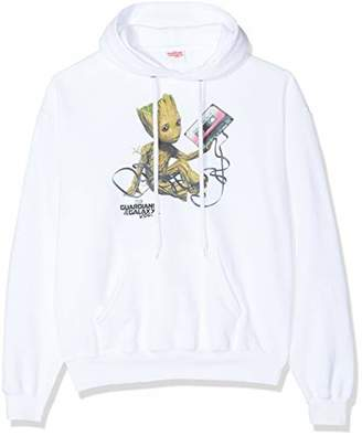 Marvel Women's Guardians of The Galaxy Vol2 Groot Tape Hoodie,16 (Size:)