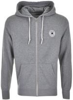 Converse Core Logo Full Zip Hoodie Grey