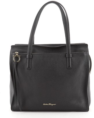 Salvatore Ferragamo Amy Tote Pebbled Leather Large