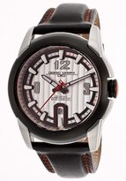 Jorg Gray Leather Black Dial Men's watch #JG9400-21