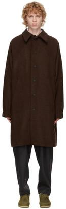 House of the Very Islands Brown Merino Wool Raglan Coat