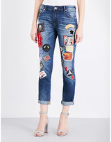 True Religion Audrey patch skinny stretch-denim jeans