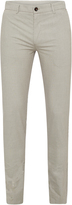 Oxford Slim Leg Cotton Trousers Camel X