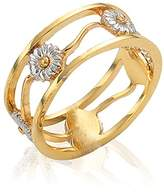 Clogau Gold 9ct Yellow and White Gold Daisy Ring - Size K