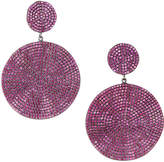 Jcm London Galaxy Small Top and Large Drop Earrings, Red