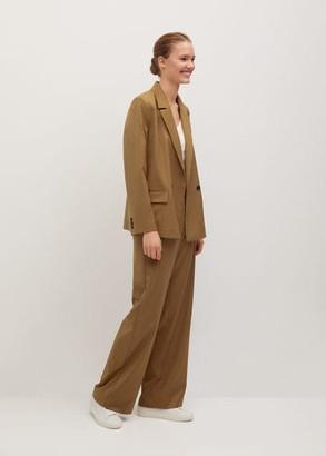 MANGO Double-breasted blazer medium brown - 1 - Women